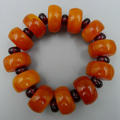 Wheel Beads Crafts Natural Old Amber Beeswax Handmade Jewelry Bracelets Bangle
