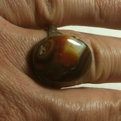 Natural Persian Yemen carnelian Aqeeq men ring 5.10-gm size us:10