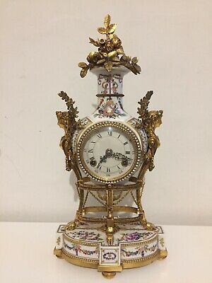 Vintage Maria Antoinette Porcelain Clock By Franklin Mint