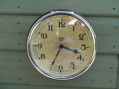VINTAGE SMITHS Bakelite cased 8 day PSV COACH BUS clock 5.5 inch dial Wall clock