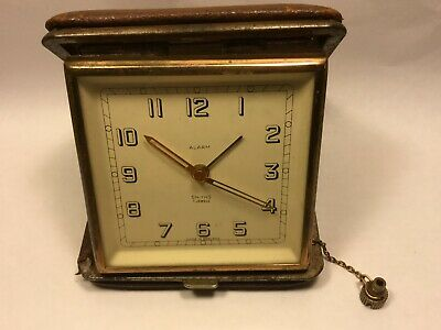 Vintage Smiths Single Winder Key 7 Jewel Alarm Clock Working  - RARE     (MJ528)