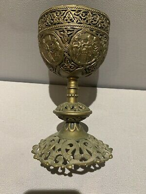CX214- Antikes Messkelch ? Altar Becher - Holy Grail Chalice Church Catholic