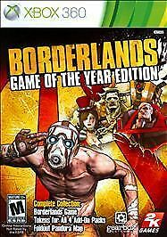 Borderlands -- Game of the Year Edition (Microsoft Xbox 360, 2010)  Complete
