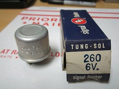 260 Tung-Sol Flasher 6v 3 Pin, Screw Connection NOS