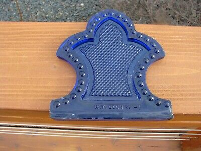 Beautiful Ornate Large Cobalt Blue Arrow Lightning Rod Roof Glass
