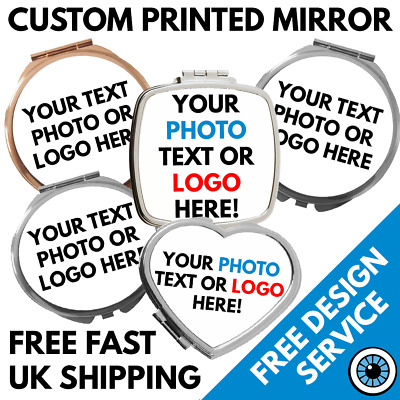 Custom Printed Compact Mirror • Personalised Keepsake • Hen Party Gift Wedding