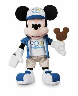"Disney Parks 2019 Mickey Mouse 15"" Plush Toy Doll Walt Disney World NEW with Tag"