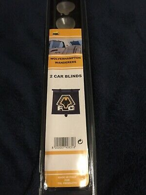 Wolves FC Retro  Car  Blinds Help protect Children from the Sun, pack of TWO