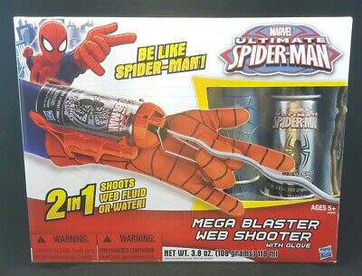 SPIDERMAN WEB BLASTER MEGA BLAST WEB SHOOTER with ammo ...Ultimate Spider Man Web Blaster