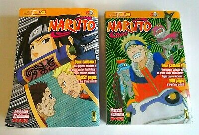 NARUTO Lot de 2 intégrale + poster & 2 jaquettes collector MANGA FR 1500 pages
