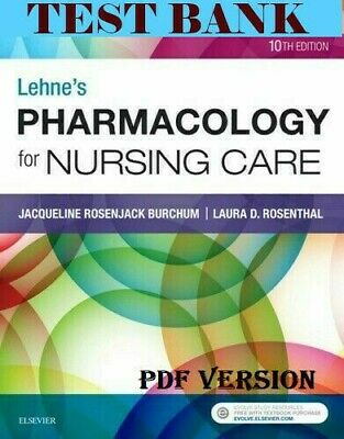 [TEST BANK] Lehne's Pharmacology for Nursing Care 10th Edition *SAME DAY DELIVER