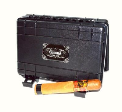 GURKHA SNIPER Black Tactical Caddy HERF 5 Cigar Travel Case Humidor - SHIPS FREE
