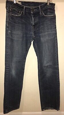 Abercrombie & Fitch REMSEN Low Rise Slim Straight Button Fly Jeans 30x30 (34x31)
