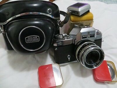 Vintage Zeiss Icarex 35 cs camera with Zeiss Tessar 2.8 50mm lens