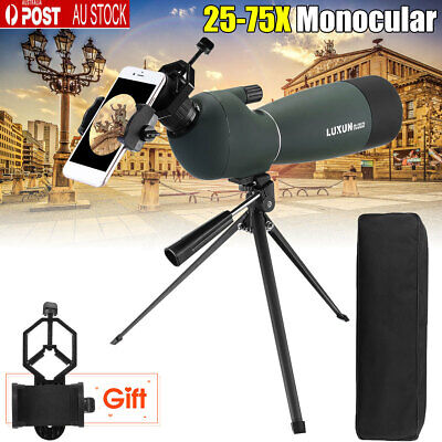 25-75x70mm Angled Zoom Spotting Scope Waterproof Telescope MC+Tripod+Adapter AU