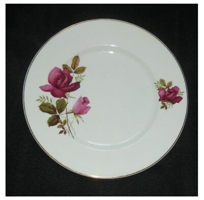 8 x Alfred Meakin Glo-White ~ Red Rose ~  20cms Plates