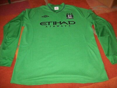 MANCHESTER CITY - goal keepers shirt  2012/13..adult XL 44. EX condition umbro