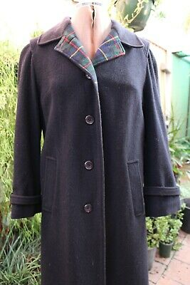Vintage Black Jacket + matching scarf,80% wool,made in Austria,est 80's,size 12