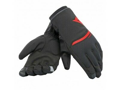 Motorcycle Gloves Dainese Plaza 2 Unisex D-dry Black/Red