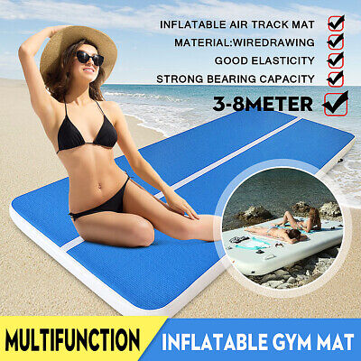 Airtrack Inflatable Air Home Gymnastics Track Floor Tumbling Gym Mat  3-8M +Pump