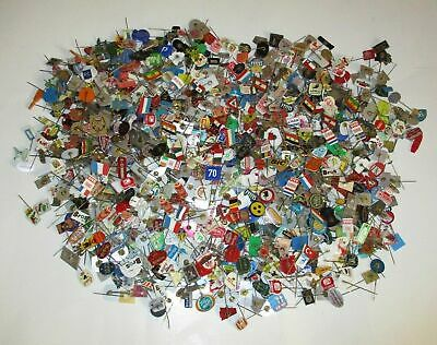Enormous Collection of Over 1100 Vintage Rare Collectable Pin Badges Lot