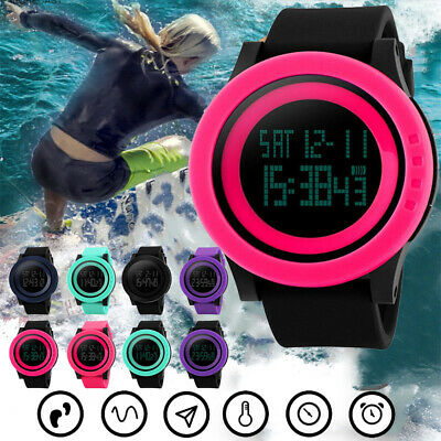EFD6 Fashion Women Men 3D Watches Sports Digital LED Electronic Outdoor Gift