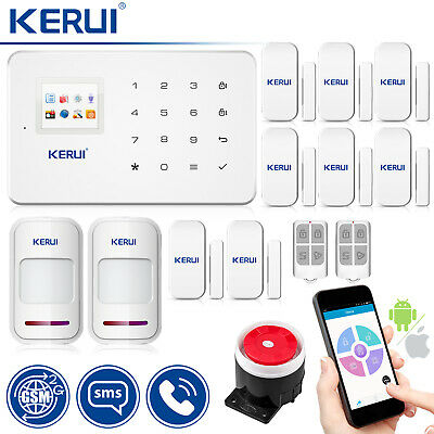 KERUI G18 Wireless GSM SMS Home Burglar Security Alarm System Motion Detector