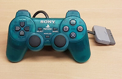 OFFICIAL Sony PlayStation Dualshock Controller - Clear Green - SCPH-1200 - VGC