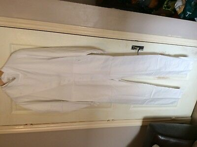 "Alexandra Workwear Unisex Heavy duty lab full coverall white C76 46"" chest"