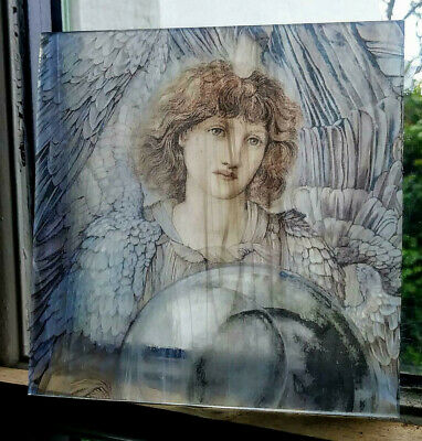 Stained Glass - Angel Pre Raphelite style pane Kiln fired.piece semi translucent