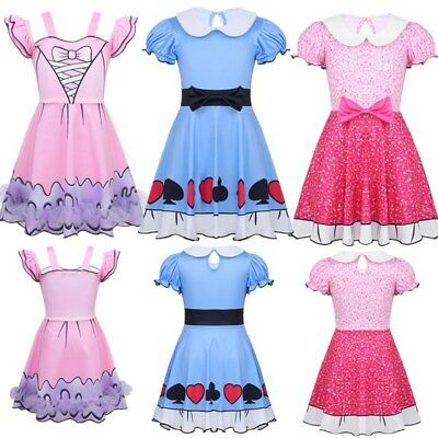 Kids Girls Princess Dress Fancy Dress Party Cosplay Costume Outfit Halloween