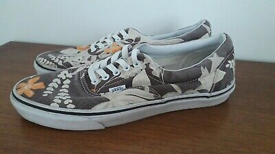 9009e8ab8c VANS VAN DOREN Era Hawaiian Faded Brown Canvas Trainers Men s UK 10 ...