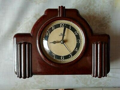 Vintage Elco Bakelite Synchronous Electric Mantel Clock. Not Working