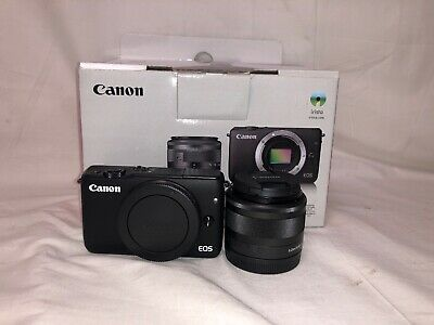 Canon EOS M10 18.0MP DSLR Camera with 15-44mm Lens - Black