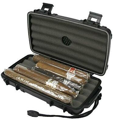 CIGAR CADDY Travel Cigar Humidor 5 Stick Case - MATTE BLACK - SHIPS FREE