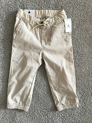 NEW WITH TAGS Baby Gap Pull On Chinos Trousers Age 12-18 Months Unwanted Gift