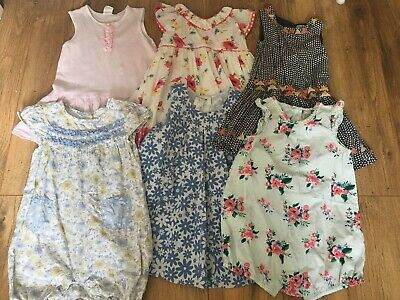 Summer Playsuit Dress Bundle 12-18 Months Next Floral Summer Baby Girl Pretty