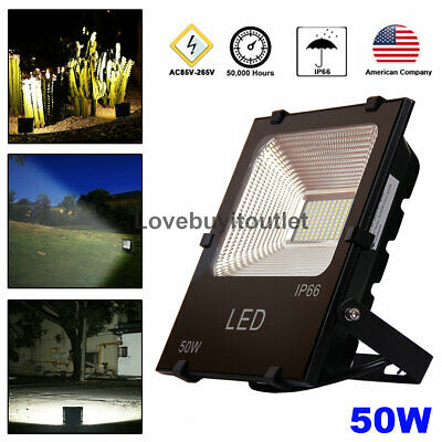 50w LED Floodlight Outdoor Garden Lamp Cool White 6000K Security Spotlight
