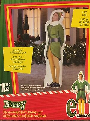 6 Ft BUDDY THE ELF Airblown Lighted Yard Inflatable Gemmy Christmas Will Ferrell