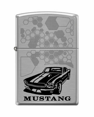 BRIQUET ZIPPO ESSENCE NEUF - FORD MUSTANG NOIRE - Original , Tempete ,Collection