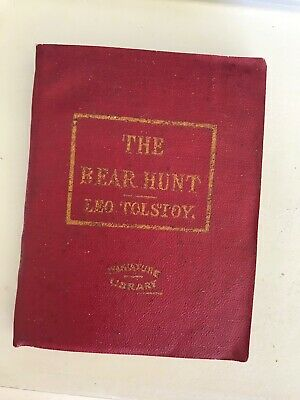 Antique Vtg Little Leather Library THE BEAR HUNT AND OTHER STORIES LEO TOLSTOY