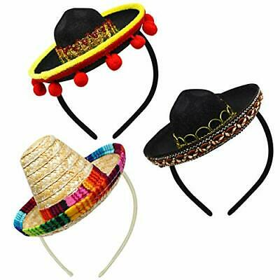 69c592717abd9 CINCO DE MAYO Sombrero Headband Mexican Fiesta Party Hat Decorations ...