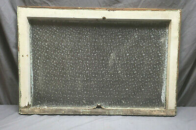 Antique Florentine Privacy Glass Window Sash Shabby Vintage Chic 32X22 121-19L