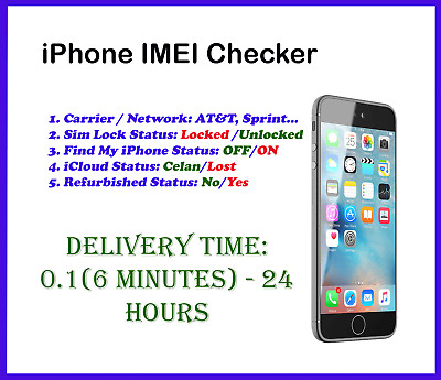 Fast iPhone IMEI Check Carrier/Network/Sim Lock/Find My iPhone/Refurbished