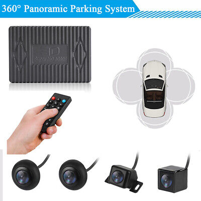 360° View Panoramic Car Parking System 4x Night Vision Cameras + Remote Control