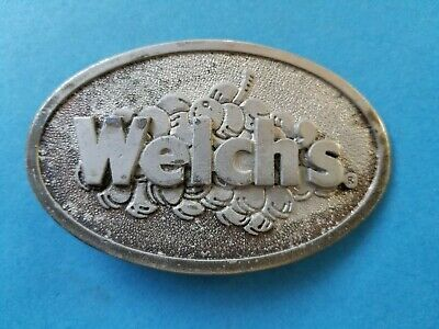 Vintage 1975 Welch's Belt Buckle Advertising Grapes Wyoming Studio Art Works