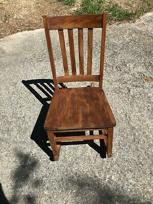 VINTAGE MISSION SEWING ROCKER ROCKING CHAIR MARKED WITH A PENCIL X Stickley Type