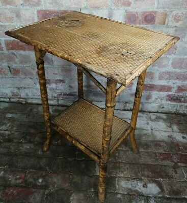 Late Victorian Bamboo Side Table.