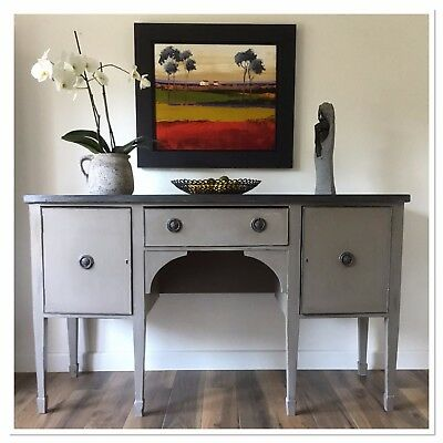 Antique George III Mahogany Bowfront Sideboard Shabby Chic Painted Annie Sloan