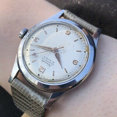1950s Nivada Aquamatica Cal. AS 1361N stainless steel wristwatch